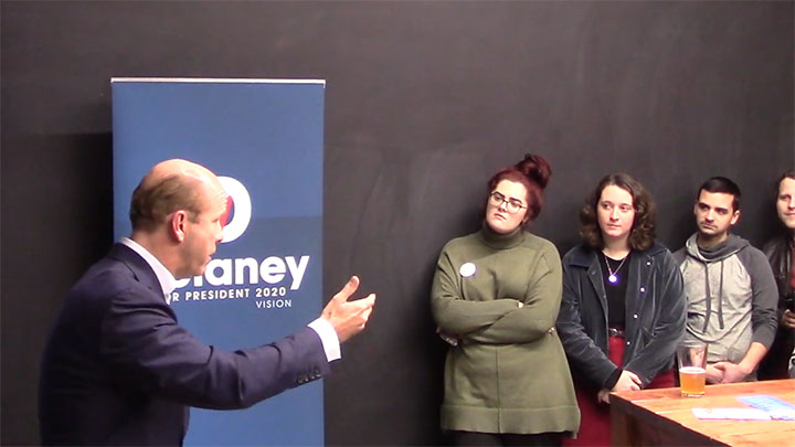 Click to watch: John Delaney addresses question on data and privacy