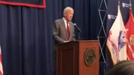 Click to watch: William Weld discusses legalizing marijuana and criminal justice in Henniker, NH