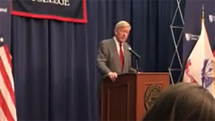 Click to watch: William Weld addresses LGBTQ Rights in Henniker, NH