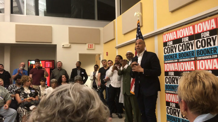 Click to watch: Cory Booker asked about criminal justice reform in Iowa