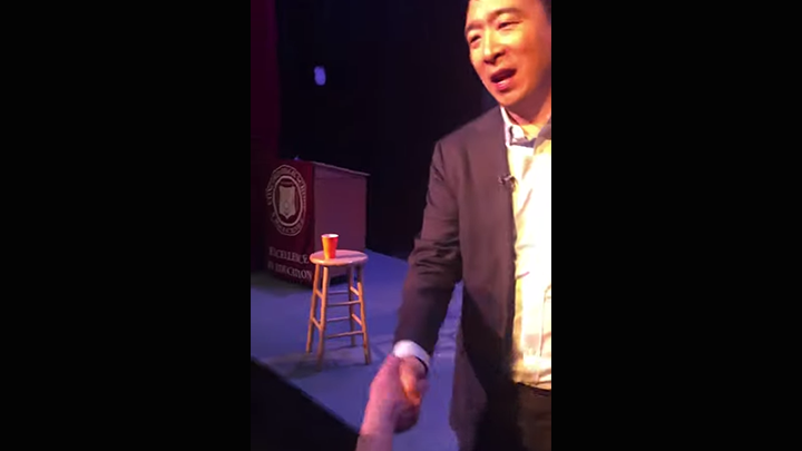 Click to watch: Andrew Yang addresses voting rights for those currently incarcerated in Concord, NH
