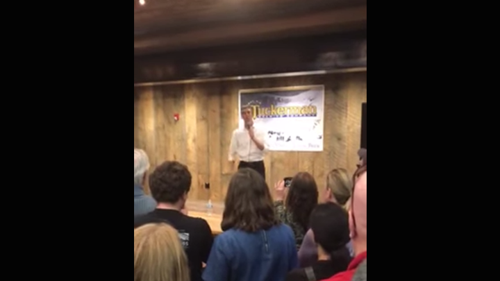Click to watch: Beto O'Rourke talks mass incarceration and criminal justice reform in Durham, NH