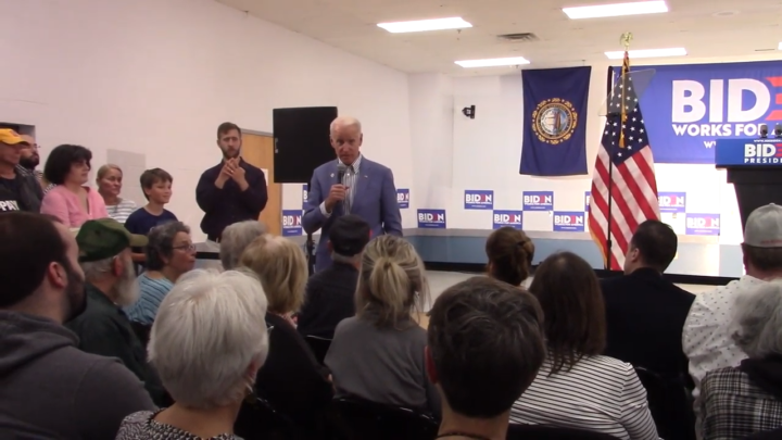 Click to watch: Joe Biden on whether he supports reducing the prison population by 50% in Concord, NH