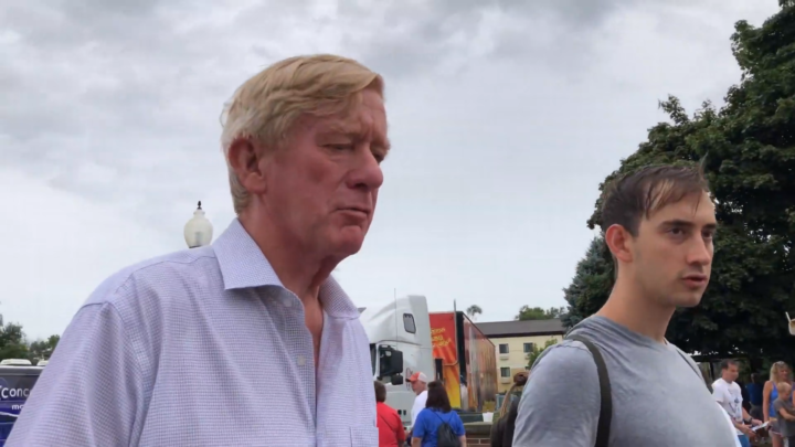 Click to watch: Bill Weld on immigration in Des Moines, IA
