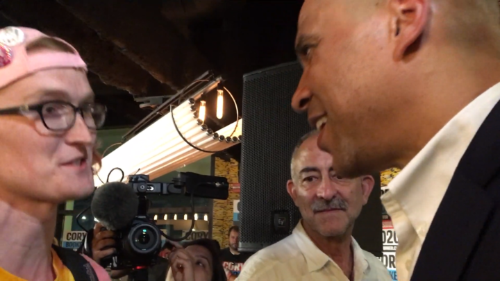 Click to watch: Cory Booker on restoring voting rights to those currently incarcerated in Iowa City, IA