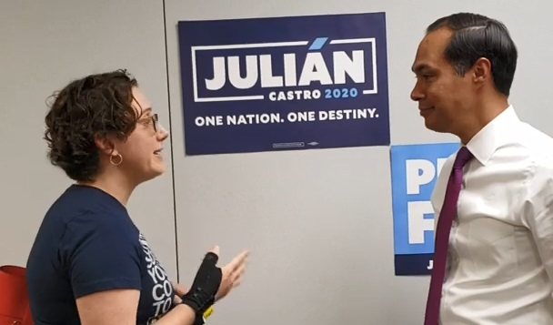Click to watch: Julián Castro on creating more voting options for people in North Liberty, IA