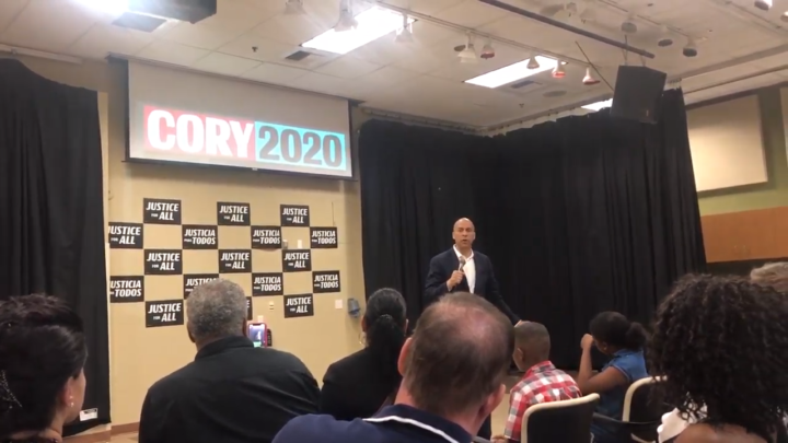 Click to watch: Cory Booker on criminal justice reform and giving formerly incarcerated people the right to vote in Las Vegas, NV