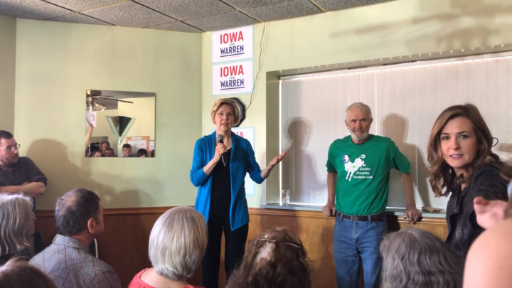 Click to watch: Elizabeth Warren discusses increasing reproductive freedom in Tipton, IA
