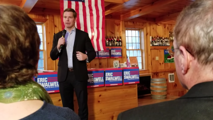 Click to watch: Eric Swalwell discusses criminal justice reform and reducing mass incarceration in South Hampton, NH