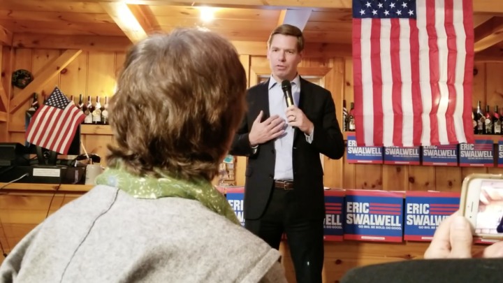 Click to watch: Eric Swalwell addresses LGBTQ rights and adding a non-binary gender marker in South Hampton, NH