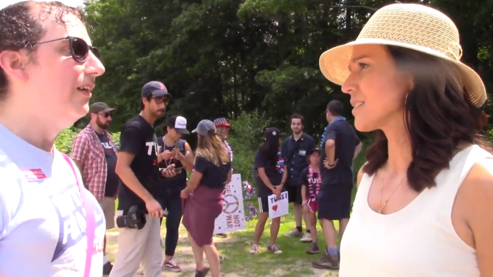 Click to watch: Tulsi Gabbard on supporting a nationwide ban on conversion therapy in Laconia, NH