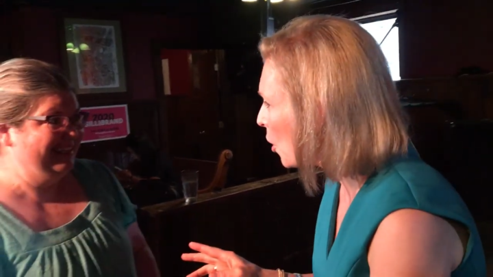 Click to watch: Kirsten Gillibrand on committing to end ICE detainers in Iowa City, IA