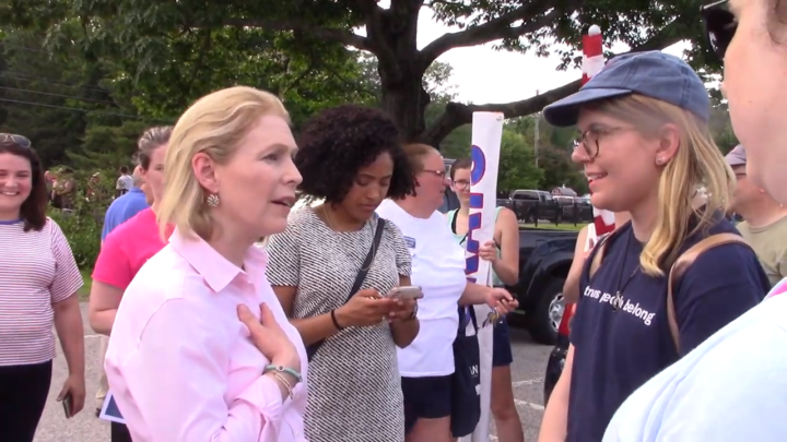 Click to watch: Kirsten Gillibrand on ensuring transgender people have access to resources when incarcerated in Laconia, NH
