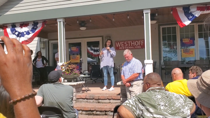 Click to watch: Kamala Harris on committing to reducing the prison population in Indianola, IA