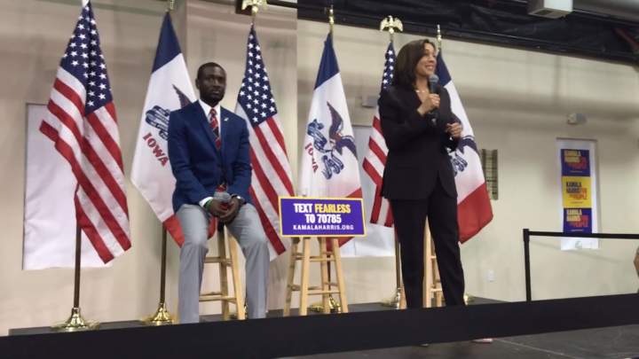 Click to watch: Kamala Harris on reducing immigrant detention by 75% in Waterloo, IA
