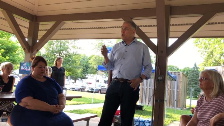 Click to watch: Jay Inslee on voting rights for those in prison in Des Moines, IA