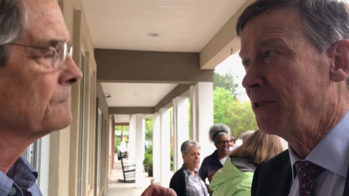 Click to watch: John Hickenlooper responds to a question about mass incarceration in Okatie, SC