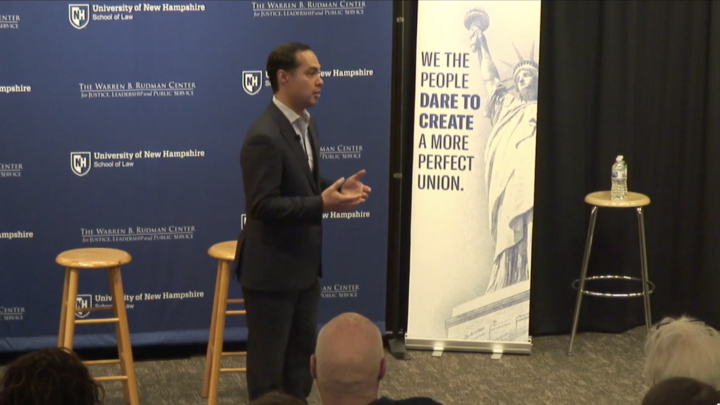 Click to watch: Julián Castro on reproductive freedom and a woman's right to choose in Concord, NH