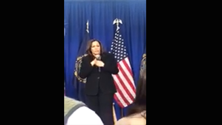 Click to watch: Kamala Harris addresses adding a third gender marker on federal IDs in Hanover, NH
