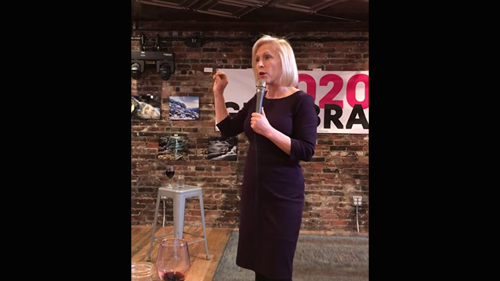 Click to watch: Kirsten Gillibrand responds to an ACLU voter about her plans for immigration reform in Dover, NH