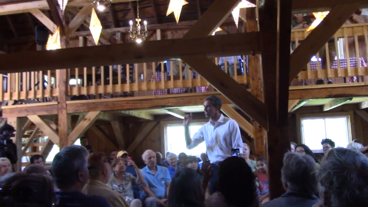 Click to watch: Beto O'Rourke on ending the system of cash bail in Andover, NH