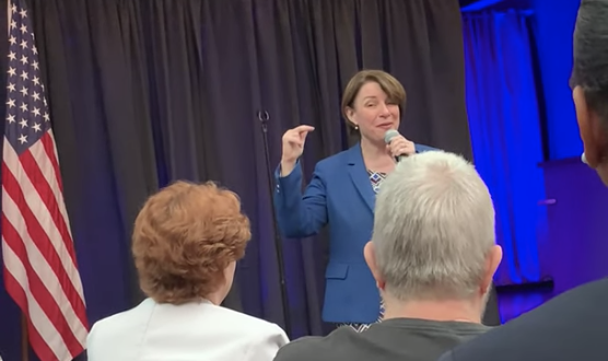 Click to watch: Amy Klobuchar on giving voting rights back to those who finish their prison sentences in Las Vegas, NV