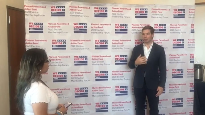 Click to watch: Eric Swalwell on committing to decrease immigration detention in Columbia, SC