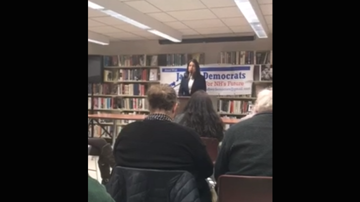 Click to watch: Tulsi Gabbard on abolishing ICE and civil liberties of asylum seekers in Jaffrey, NH