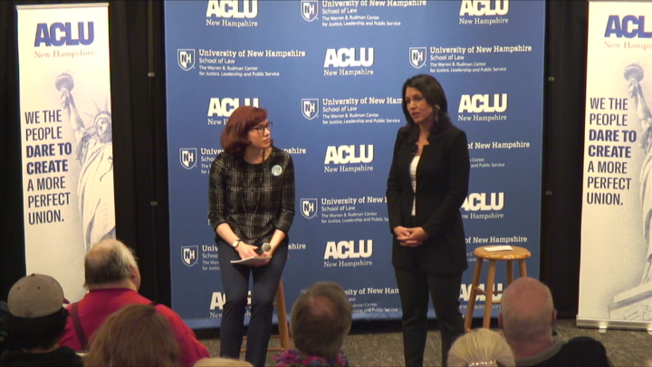 Click to watch: Tulsi Gabbard on adding a third gender marker at the federal level in Concord, NH