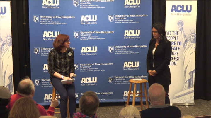 Click to watch: Tulsi Gabbard on reproductive freedom and lifting the Hyde Amendment in Concord, NH