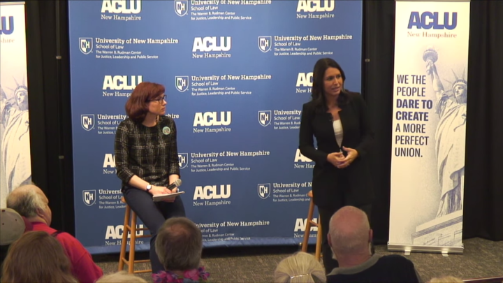 Click to watch: Tulsi Gabbard on restoring voting rights to those currently and formerly incarcerated in Concord, NH