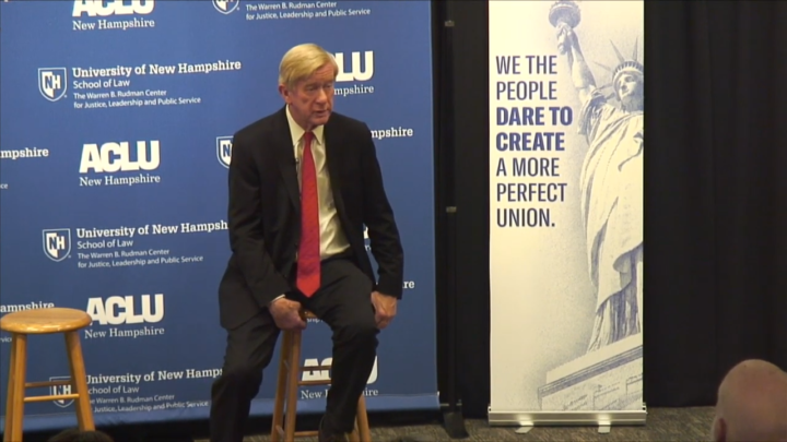 Click to watch: Bill Weld discussing supporting a third gender on identification in Concord, NH