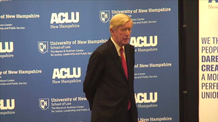 Click to watch: Bill Weld on supporting redrawing gerrymandered districts in Concord, NH