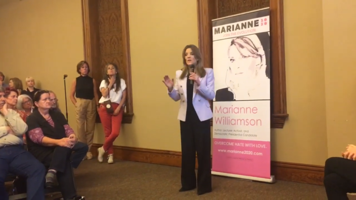 Click to watch: Marianne Williamson on immigrants' rights in Anderson, SC