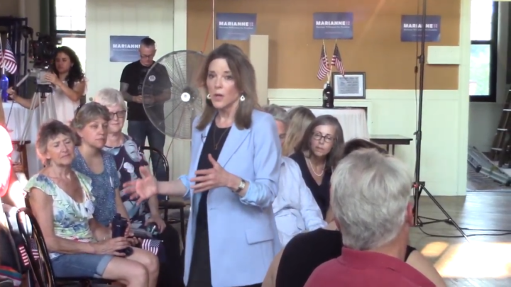 Click to watch: Marianne Williamson on decreasing mass incarceration in Concord, NH