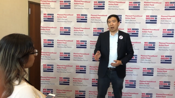 Click to watch: Andrew Yang on not being able to disentangle federal immigration enforcement from local law enforcement in Columbia, SC