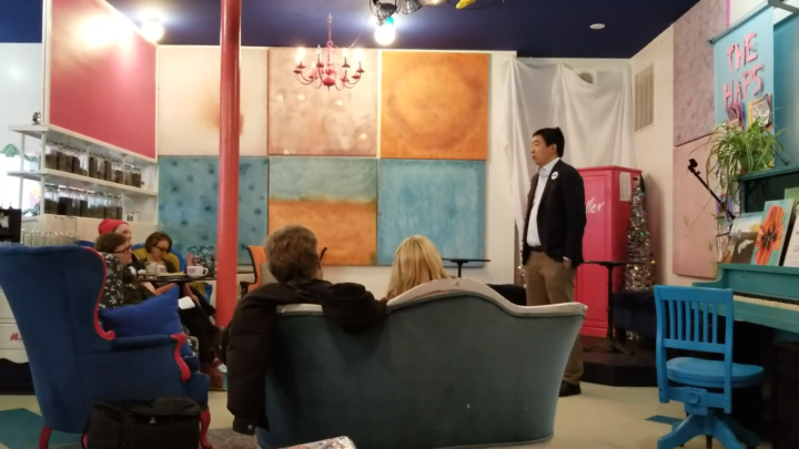Click to watch: Andrew Yang on immigrants' rights and a pathway to citizenship in Somersworth, NH
