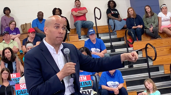 Click to watch: Cory Booker on reproductive freedom in Seabrook, SC
