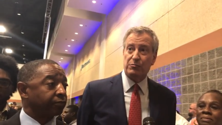 Click to watch: Bill de Blasio on committing to reducing the prison population in Columbia, SC
