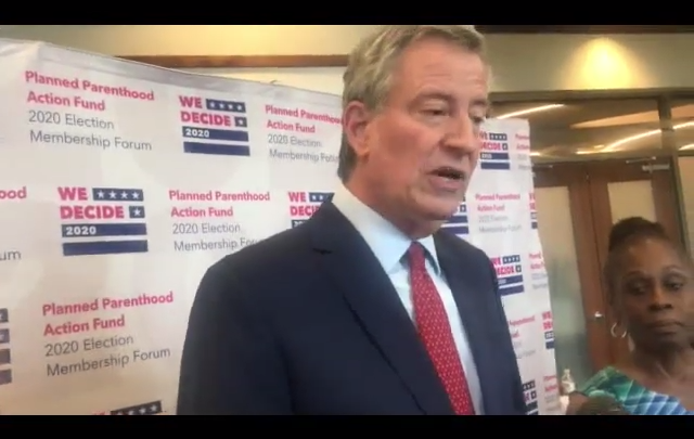 Click to watch: Bill de Blasio on committing to end the use of ICE detainers in Columbia, SC